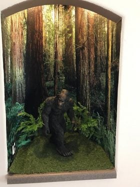 Scott J Big Foot Layout in Alcove with Woods Mural
