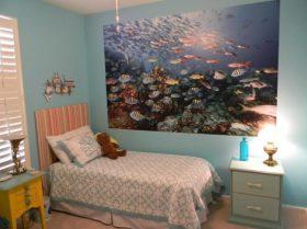 fred b fish mural in grandchild bedroom