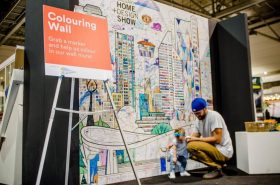 Coloring wall murals are a great way to bring conference and trade show attendees together.