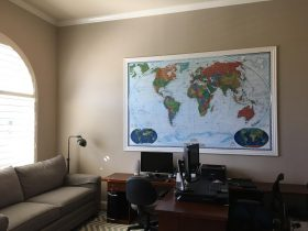 National Geographic Decorator World Map by Magic Murals in a home office