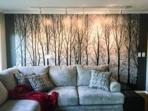 Accent Walls Donu0027t Have To Be In Color. This Poplar Sunrise Mural Sure