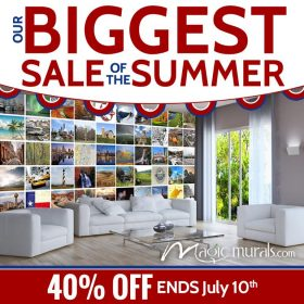 Save 40% Off All Wallpaper Wall Murals at Magic Murals Now Through July 10 2017