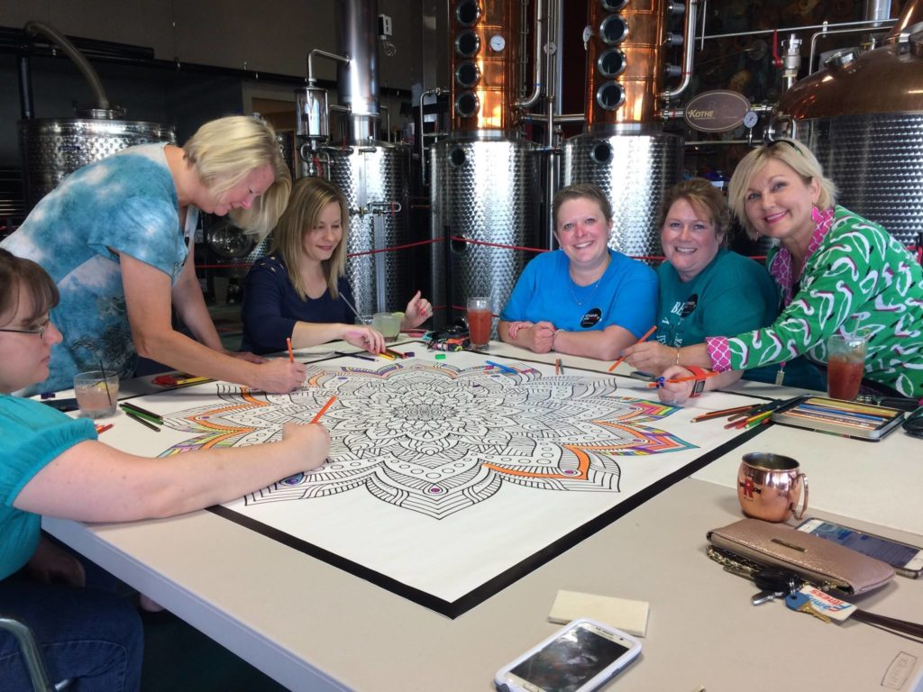 Adult Coloring Murals for Fun & Fundraising > Decorating with ...