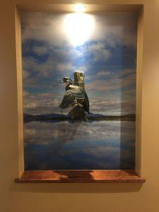 Batesville Dental Duck Carving Backdrop - Tikchik Lake Mural by Magic Murals