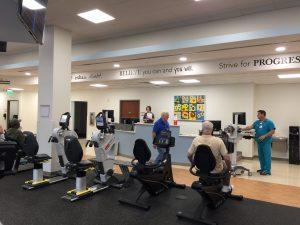 Motivation surrounds the patients at Johnston Health Cardiopulmonary Rehabilitation. Photo by MagicMurals.com