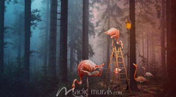 Flamingos and Lightbulb