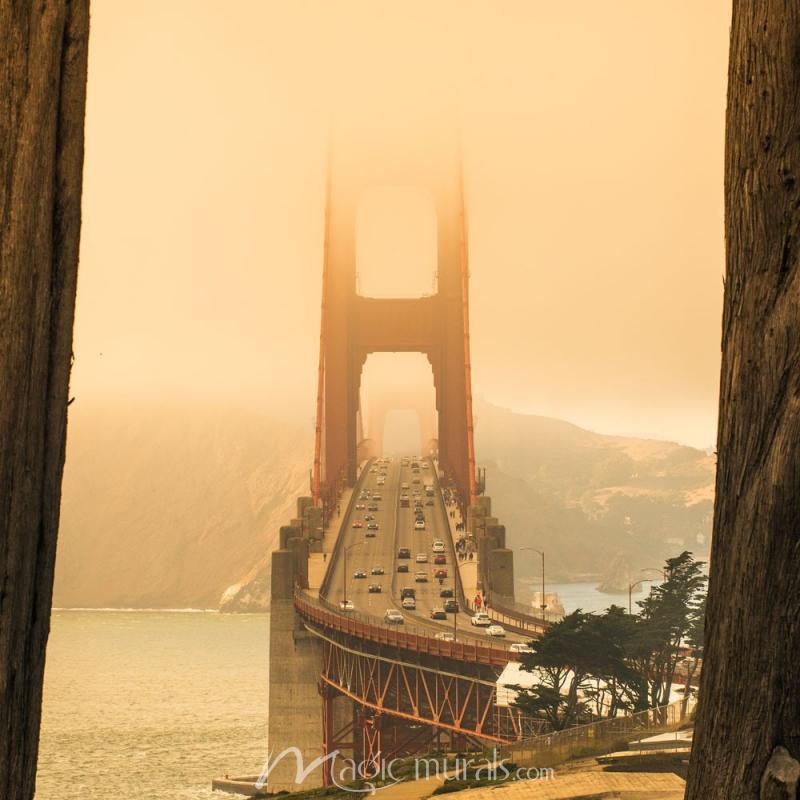 Golden Gate Framed Wallpaper Wall Mural