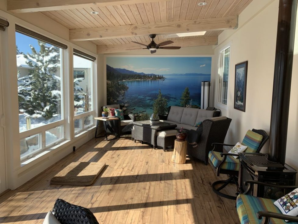 Newly Built Reno Sunroom Gets Fitted With Breathtaking Lake Tahoe Mural