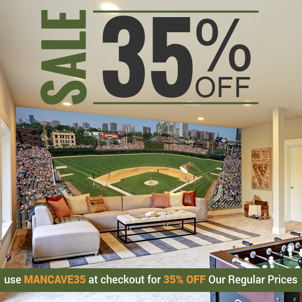 Save 35% off all murals with discount code MANCAVE35 now through June 17, 2019