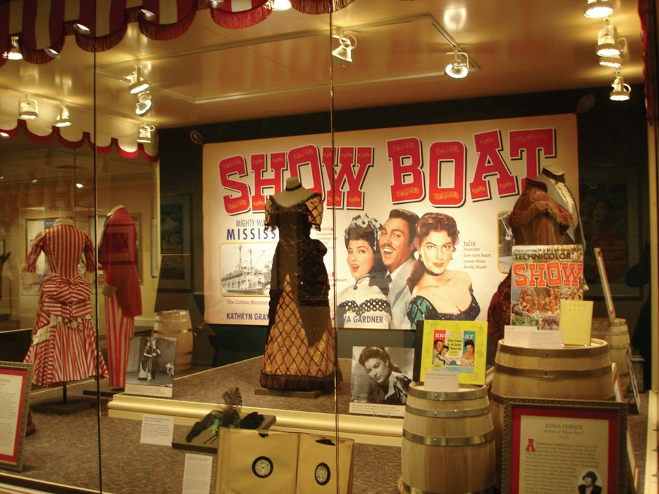 The large graphic Show Boat movie poster adds drama and context to this display. Imagine it without...