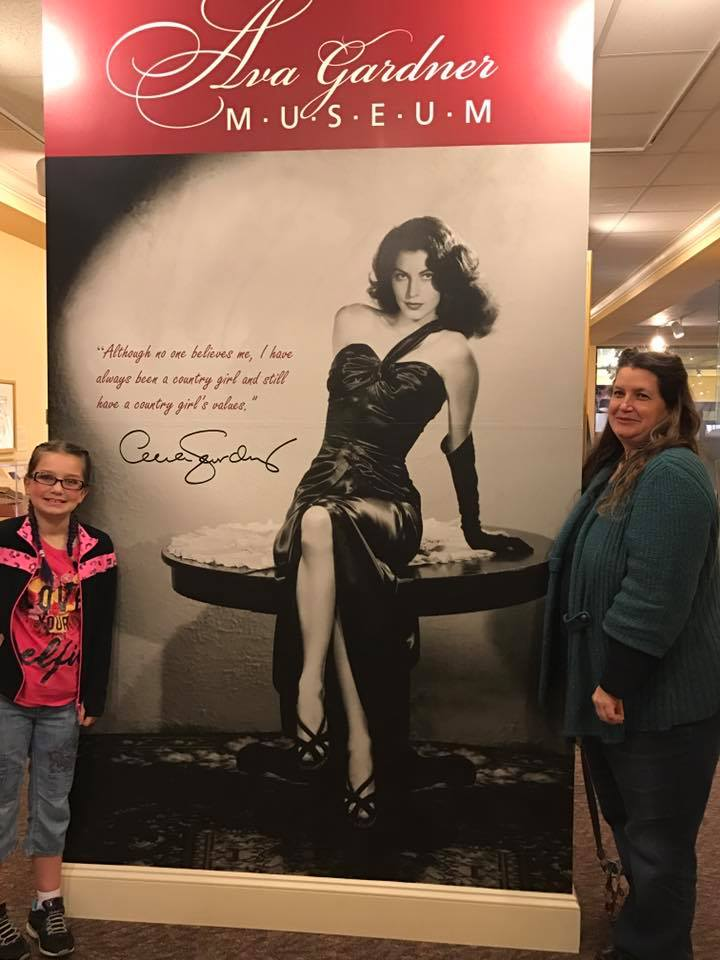 Visitors at the selfie spot of the Ava Gardner Musuem