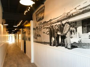 Vintage photo murals are a great way for businesses to connect with their communities and show just how long they've been around.