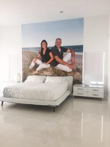 Hey... it's your bedroom. Go ahead and celebrate yourselves with a custom wall mural made from your favorite photo. You deserve it.