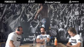 Rich Froning of Cross Fit Mayhem uses a custom mural by Magic Murals as a background for their Froning & Friends video podcasts.