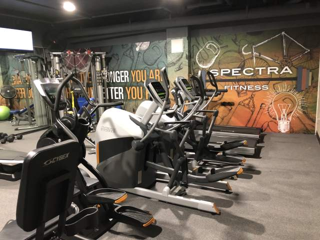 More gyms and personal trainers are going online these days to serve training tips and inspiration to their at-home customers. Boring cement walls and tacky posters won't cut it when your business can be seen by millions. This gym is at Spectra Plaza, luxury apartments in Hartford, CT developed by Wonder Works Construction. Mural by Magic Murals.