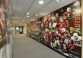 UMass 2 Football Hallway - school - sports