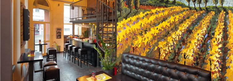 restaurant wall murals
