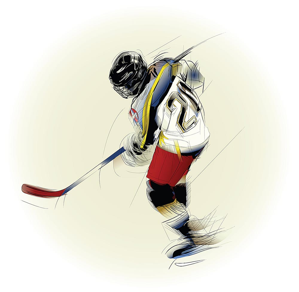 hockey wall decals totally kids totally bedrooms kids bedroom hockey player