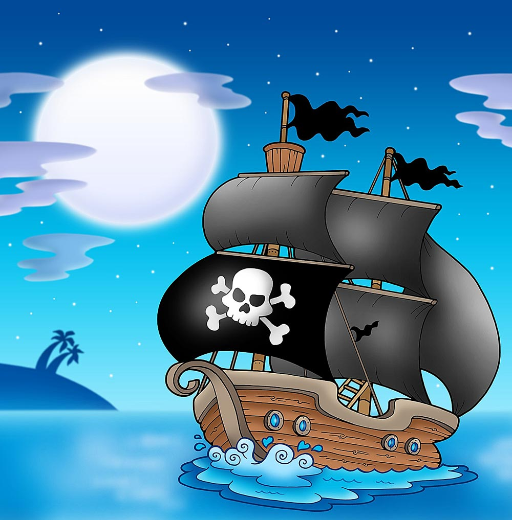 Custom Size Pirate Ship Mural