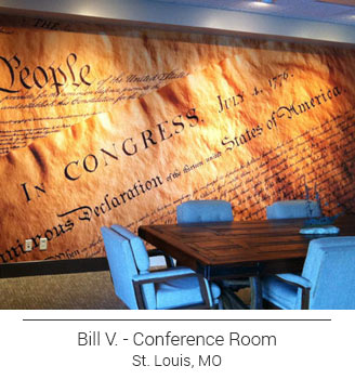 US Constitution mural located in a St. Louis Missouri conference room