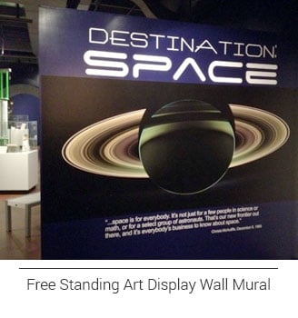 Destination Space entrance backdrop