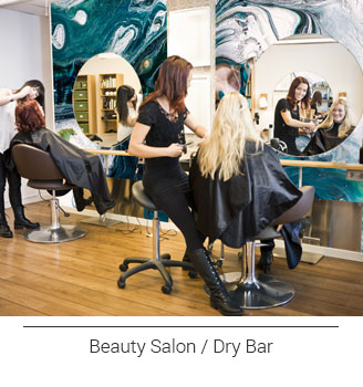 colorful Turquoise Abstract Marbling hair salon or dry bar wallpaper wall mural