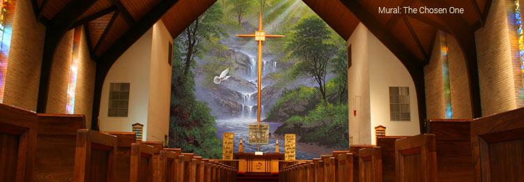 Churches religious wall murals for Church wall mural