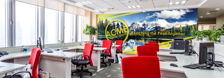 Corporate office wall murals for Corporate mural