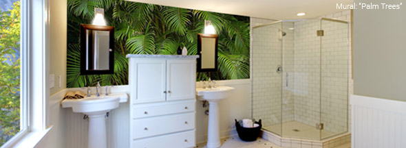 bathroom murals - wall murals for bathrooms