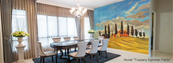 Dining room murals wall murals for dinging rooms