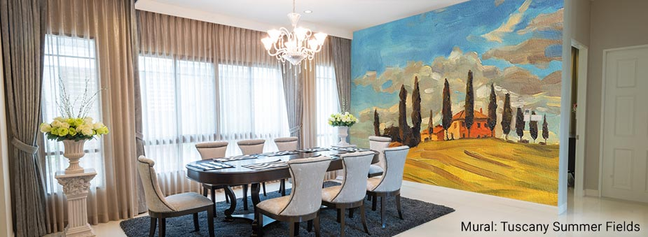Dining Room Murals Wall For, Dining Room Murals Pictures