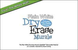 White Dry Erase Wall Murals