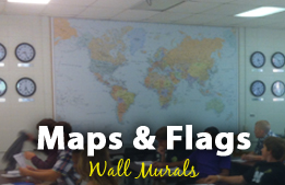 Maps & Flags Wall Murals