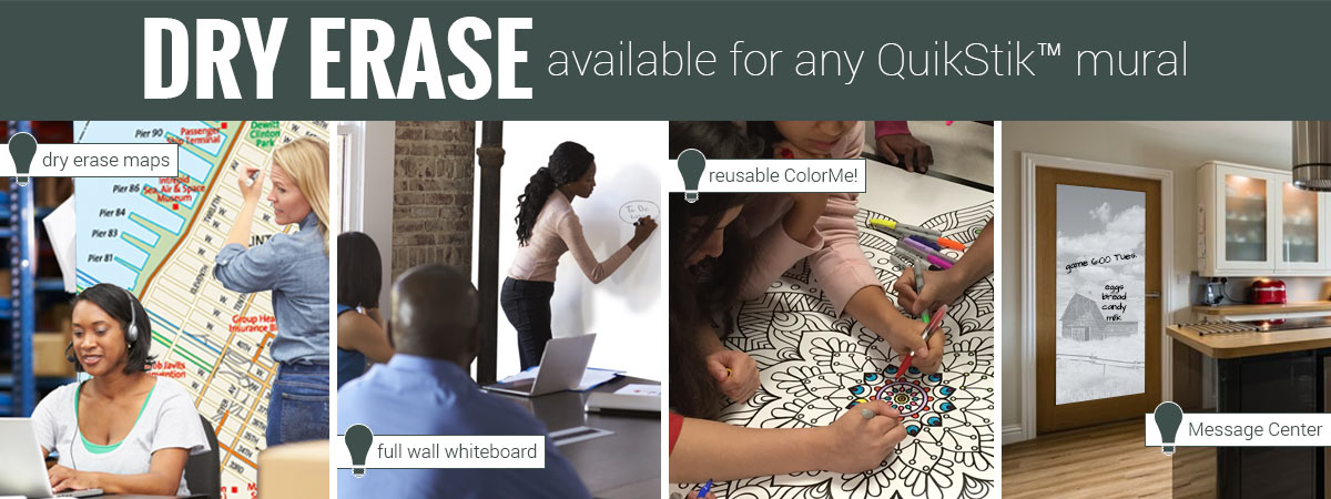 Shop our Dry Erase Murals Collection