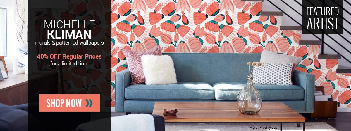 40% OFF Featured Artist Wallpaper Wall Murals Sale
