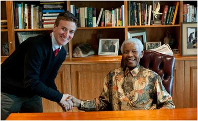 Adam Jacobs and Nelson Mandela