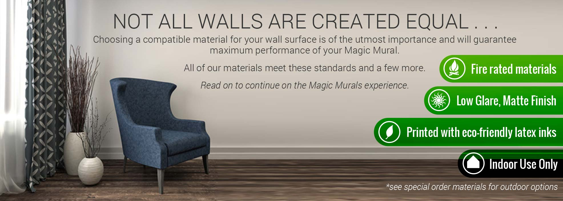 Compare Mural Materials